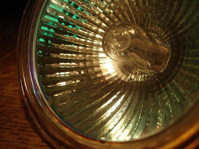 skleněný reflektor
